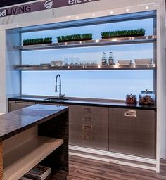 Check out this Illuminated backsplash in our Contemporary Display at KBIS. Very cool product from Element Designs! - Houzz
