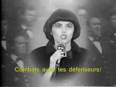 Mireille Mathieu's legendary performance of La Marseillaise with the Eiffel Tower in the background. This one includes subtitles (lyrics; paroles) - sorry ab...