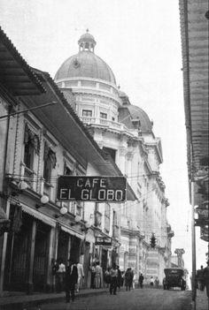 Ricardo JaramilloFOTOS ANTIGUAS SANTIAGO DE CALI. Famoso Café El Globo. Spanish Pronunciation, Cali Colombia, City Architecture, Taj Mahal, Country, Building, Travel, Beautiful, Chocolate