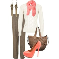 A fashion look from August 2012 featuring Crumpet sweaters, Jaeger pants and Charlotte Russe pumps. Browse and shop related looks.
