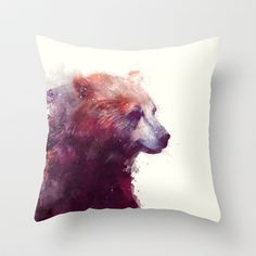 Buy Bear // Calm by Amy Hamilton as a high quality Throw Pillow. Worldwide shipping available at Society6.com. Just one of millions of products available.