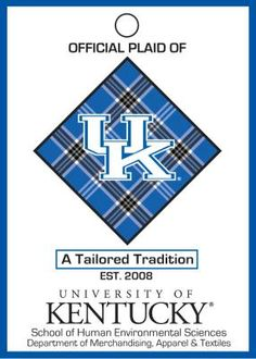 The official UK Plaid! Still trying to figure out how to add this to my sousaphone for the alumni band. Kentucky Colleges, University Of Kentucky, Sousaphone, Plaid Tablecloth, Go Big Blue, Environmental Science, Band, School, Kentucky University
