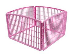 Dog Playpen For Small Dogs Indoor Portable Outdoor Pink Exercise Pet Puppy Play
