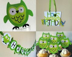 Owl Custom Party Package  birthday party or baby by ThePaigeSpot, $38.00