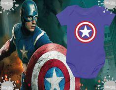 Na BABY BRUTTU você encontra body do Capitão América, Batman, Robin e outros super-heróis.