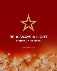 Be always a light 🌟 merry christmas ❤️ #eurekashoes #christmas #merrychristmas #bealight #christmasnight #magic