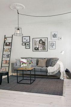 Ampliar visualmente la sala. Salas pequeñas con paredes blancas. Salas pequeñas.