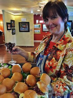 Jane Benson serving up some delicious food!