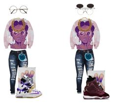 """""""which shoes��"""" by lilneezy7204 ❤ liked on Polyvore featuring Victoria's Secret, Adrienne Landau, NIKE and *Accessories Boutique"""