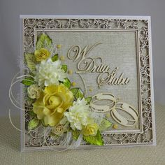 pracownia lilavati: śluby, śluby, śluby... Quilling Work, Quilling Cards, Wedding Anniversary Cards, Wedding Cards, Mixed Media Cards, Shabby Chic Cards, Birthday Cards For Women, Creative Cards, Flower Cards