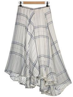 Asymmetric Geometric Line Layered Chiffon Skirt | Psychedelic Monk