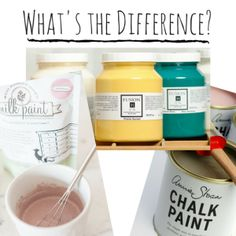 Useful guide on differences between chalk, milk and fusion finishes... What's the Difference-
