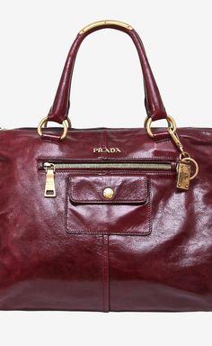 Prada Burgundy Handbag | VAUNTE