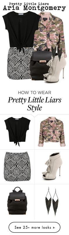 """""""Pretty Little Liars- Aria Montgomery"""" by darcy-watson on Polyvore featuring Topshop, Boohoo, Alexander Wang, Giuseppe Zanotti and GUESS"""
