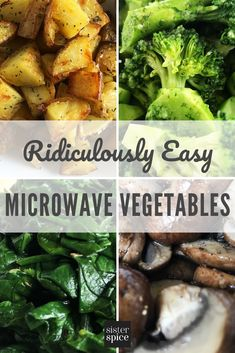 Discover the magic of microwave recipes to help you get delicious dishes on the table in half the time or less. Green veggies, potatoes, mushoroms and more! Healthy Microwave Meals, Microwave Vegetables, Easy Microwave Recipes, Microwave Dinners, Easy Healthy Recipes, Healthy Cooking, Vegetable Recipes, Easy Meals, Cooking Recipes