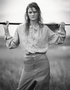 French model Constance Jablonski heads to Tanzania, Africa for a series of safari inspired images. Decked out in a wardrobe of neutrals colors, tribal and utilitarian wear; the blonde stunner stuns on the editorial titled ...