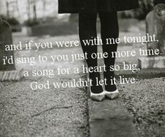 Hear you me, Jimmy Eat World...my favorite lyric of the song.