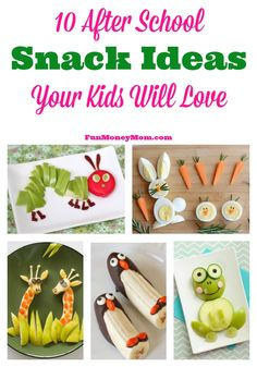 Surprise your kids when they come home with these super cute after school snack…