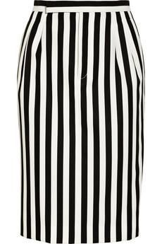 Marc Jacobs striped twill #skirt #fashion #style