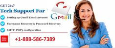 Get 24x7 Tech Support for Setting up Gmail Email Account, username recovery & password Recovery, SMTP, POP3 Configuration Call Us +1-888-586-7389.