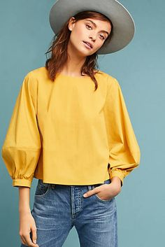 Sunday in Brooklyn Siobhan Balloon-Sleeved Blouse Fashion Sewing, Girl Fashion, Fashion Outfits, Iranian Women Fashion, African Fashion, Blouse Models, Casual Tops, Blouse Designs, Blouses For Women