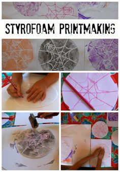 Styrofoam Printmaking with Kids