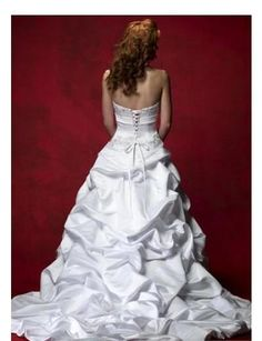 The bustle on this dress is beautiful!