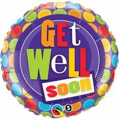 Folieballon Get Well Soon