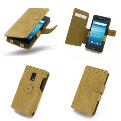 PDair Leather Case for Sony Xperia Ion LT28i - Book Type (Brown/Crocodile Pattern)