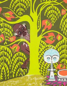 BOOK INFO - A Story A Story: An African Tale retold and illustrated by Gail E. Haley. Published by Atheneum in 1971 (third printing).  SIZE - 10.35 x 10.25 x .4 inches / 36 pages  CONDITION - Please see the images above for an accurate representation of what the book looks like, but...  No dust jacket. Some fading / wear to the covers. Some stampings / markings to the front endpapers. Some small discolorations on pages throughout. A bit of writing in pen on the first page. Stic...