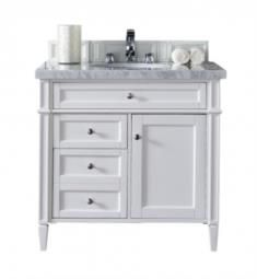 "James Martin 650-V36-CWH Brittany 36"" Single Bathroom Vanity in Cottage White Finish"