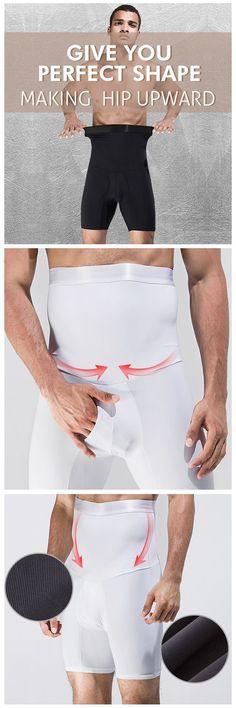 High Elastic Fat Burning Tight Tummy Tuck Hip Lifting Boxers for Men