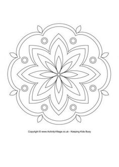 Rangoli Coloring Page Makes A Quick And Easy Early Finisher Or One Day Art Project For The Sub