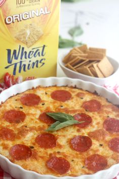 WHEAT THINS Pepperoni Pizza Dip : Click below for this tasty Wheat Thins Pizza recipe
