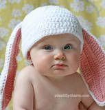 Pikadilly Charm: Little Cottontail crocheted hat.  http://pikadillycharm.blogspot.com/2011/04/little-cottontail-hat.html