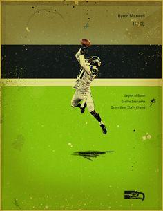 NFL's Greatest Defenses - 2013/14 Seahawks by Jon Rogers, via Behance #jonrogers #nfl, #seahawks