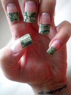 Lil debbie nails always on point 20 dollar bill yall lil money print nail prinsesfo Gallery