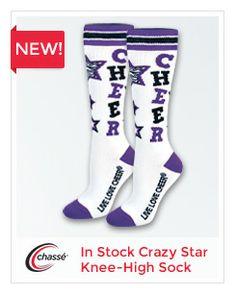 9f7c22b9ef4 Chassé Crazy Star Knee-High Sock Cheers Stars