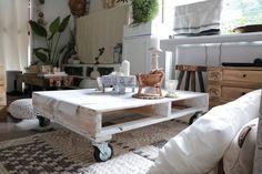 パレットで簡単、ローテーブルをDIY|LIMIA (リミア)