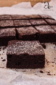 Chocolate Brownie Cake, Chocolate Ganache, Diabetic Recipes, Cooking Recipes, Low Carb Deserts, Sugar Free Desserts, Food Cakes, Healthy Sweets, Sweet Cakes