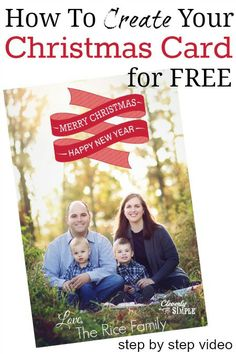 How to Create Your Christmas Card online for Free!.  I'll show you how in this short step by step video.