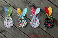 4 Freizeiten: Ostern rückt näher ... zuckersüße Hasenbeutelchen, Ostern mit Kindern, Hasenbeutel, Osterverpackung nähen