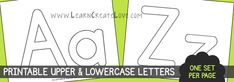 Upper n lower case on same page.... yeah found it.  Print on colored paper!