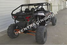 Vent Racing Polaris XP 1000, XP1K 4-Seat cage bolts-on, works with the stock doors, relocates the shock reservoirs inside the cage, and extends the cage all the way back to the rear differential.