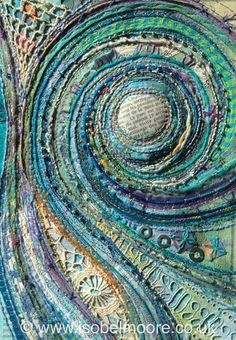 Isabel Moore - Thread Noodle. Spiral waves