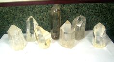7 Large Quartz Crystal set Citrine   lot of by CoyoteRainbow, $65.00