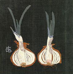 "Ayako Miyawaki: The Art of Japanese Applique. ""Onion Cut in Two"" from 1965."