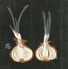 'Onion Cu in Two 1965.  Ayako Miyawaki: The Art of Japanese Applique. The term refers to the technique of sewing one fabric on top of the surface of another.