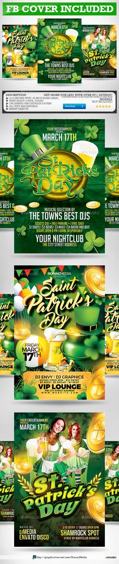 St. Patrick's Day Flyer Template PSD Bundle