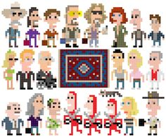 This is the original image of the Big Lebowski cross stitch, which can serve as a pattern. This blog has TONS of inspiration for cross stitch!